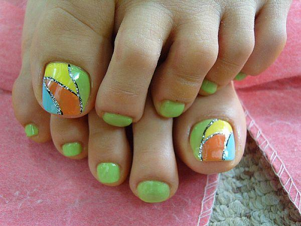 30 toe nail designs art and design colorful toe nail art design 30 toe nail designs prinsesfo Choice Image