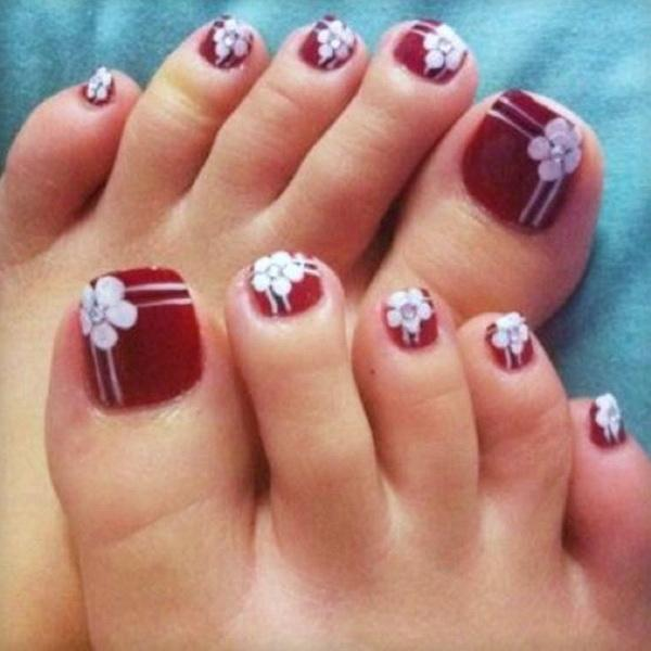 Flower Toe Nail Art Designs - 30+ Toe Nail Designs ... - 30+ Toe Nail Designs Art And Design