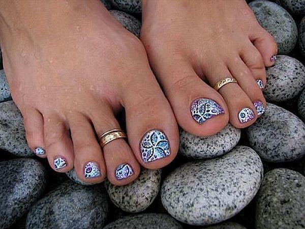 Glitter Gel Toe Nails 30