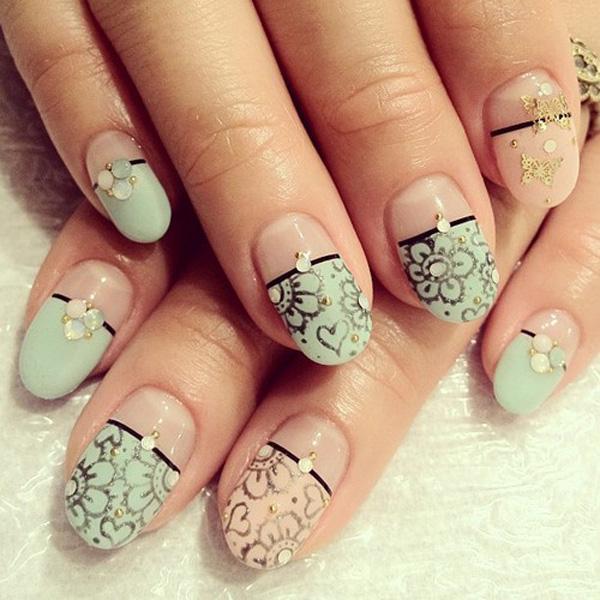 35 unique nail designs art and design lovely nail art 35 unique nail designs 3 3 prinsesfo Choice Image