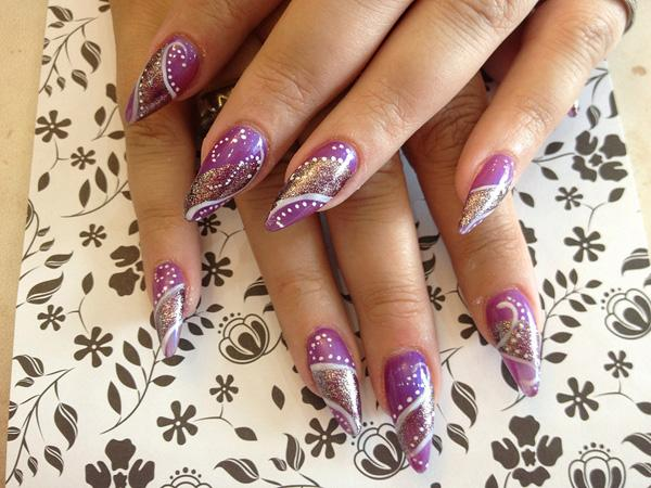 45 Fearless Stiletto Nails Art And Design