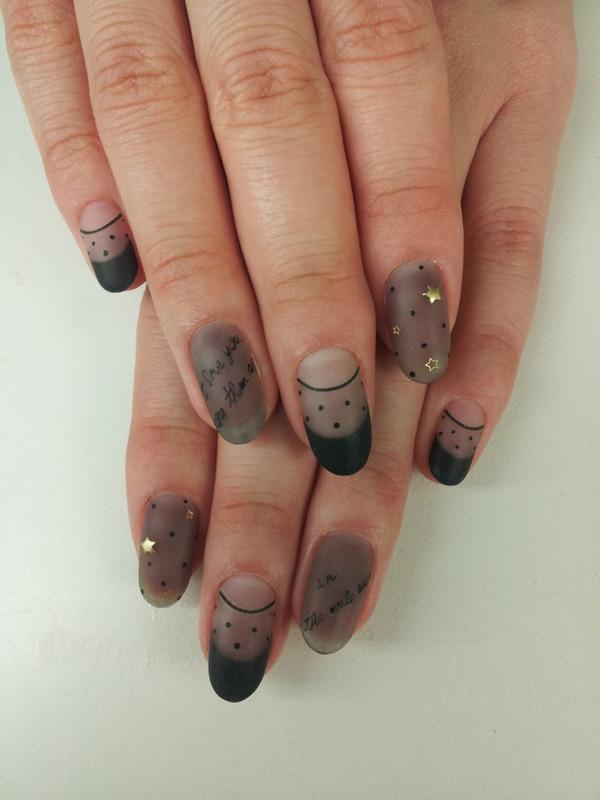 black mask - 35 Unique Nail Designs <3 <3 ... - 35 Unique Nail Designs Art And Design