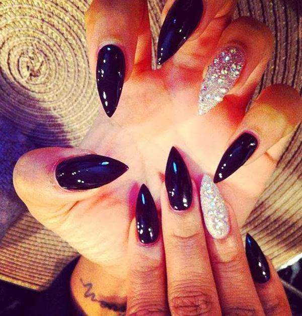 Black Acrylic Nails Tumblr 2014