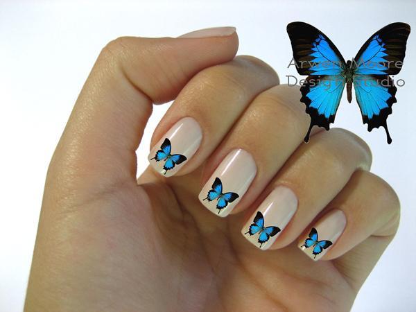 Ногти дизайн с бабочками