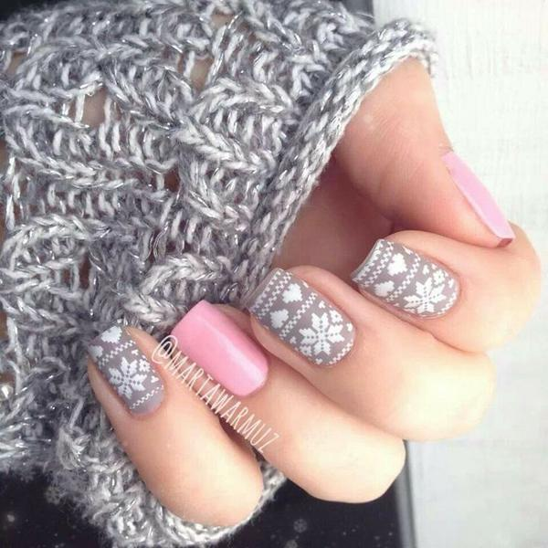 Pink Nails With Black Lines Moreover Matte Ombre Nails Also Hot Stuff ...