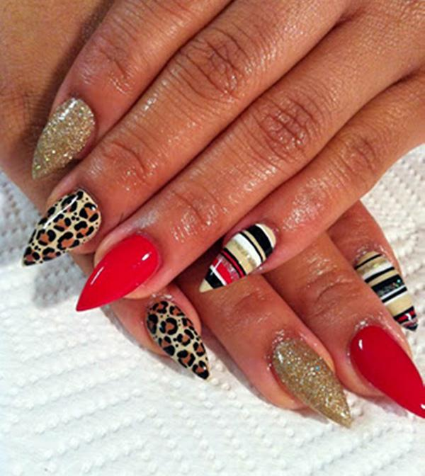 45 fearless stiletto nails art and design pin it prinsesfo Choice Image