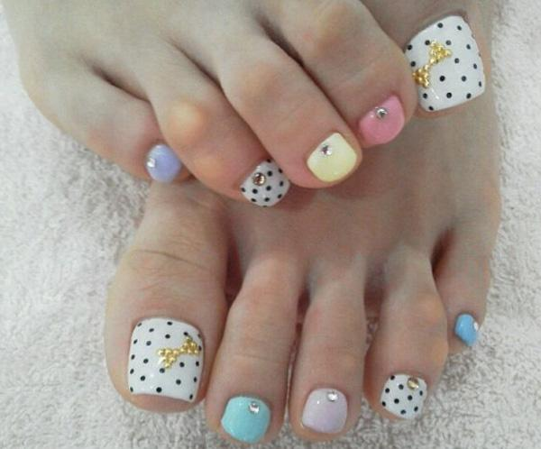 Dot Toe Nail Designs - 30+ Toe Nail Designs ... - 30+ Toe Nail Designs Art And Design