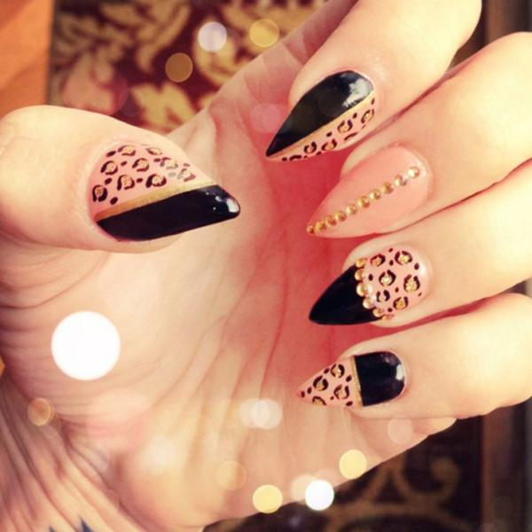 45 fearless stiletto nails art and design pin it prinsesfo Images