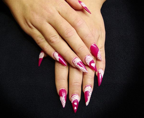 Stiletto Nails For Valentines Day Art And Design