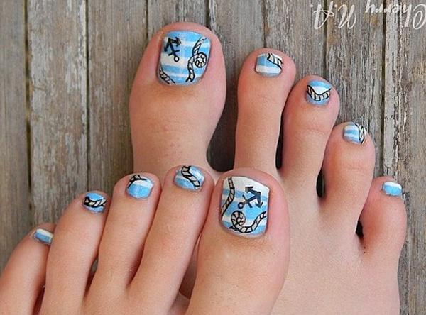 30 toe nail designs art and design toe nail art 30 toe nail designs prinsesfo Image collections