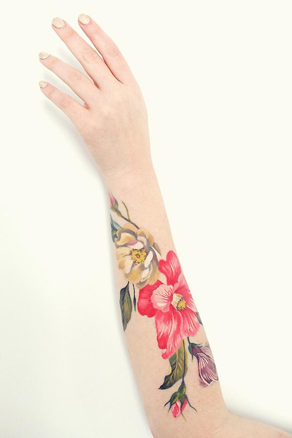 039cc29ffcaf6 Beautiful Flower Forearm Tattoo - 110+ Awesome Forearm Tattoos <3 <3 ...