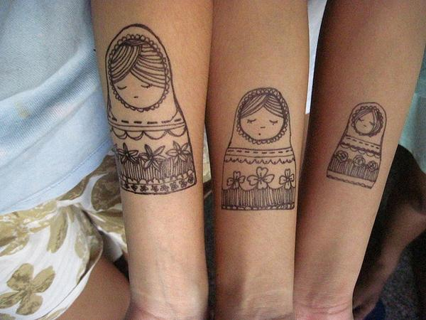 Russian Nesting Dolls. - 50+ Sister Tattoos Ideas  <3 !