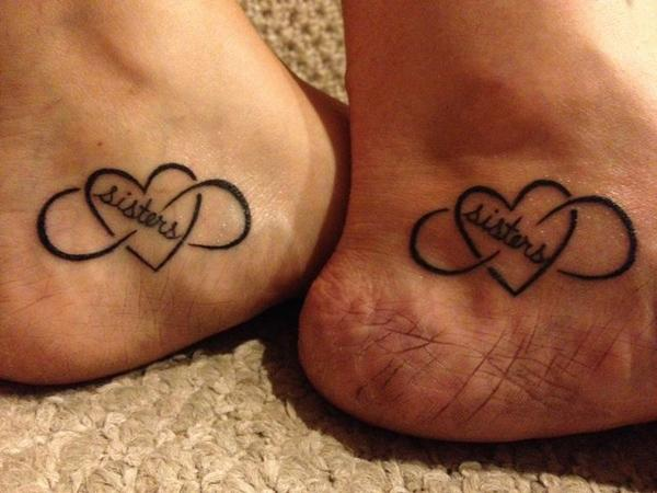 Infinity love with sisters - 50+ Sister Tattoos Ideas  <3 !