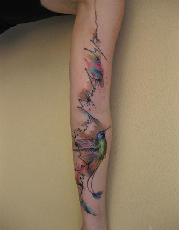 Watercolor Sleeves Watercolor Hummingbird Sleeve