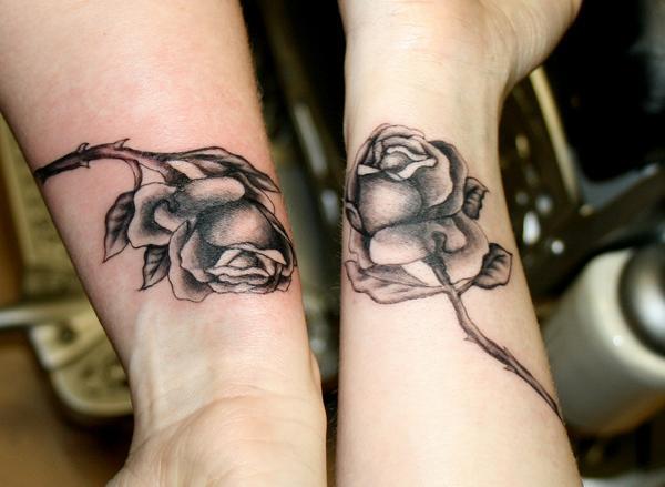 Sisters Roses tattoos - 50+ Sister Tattoos Ideas  <3 !