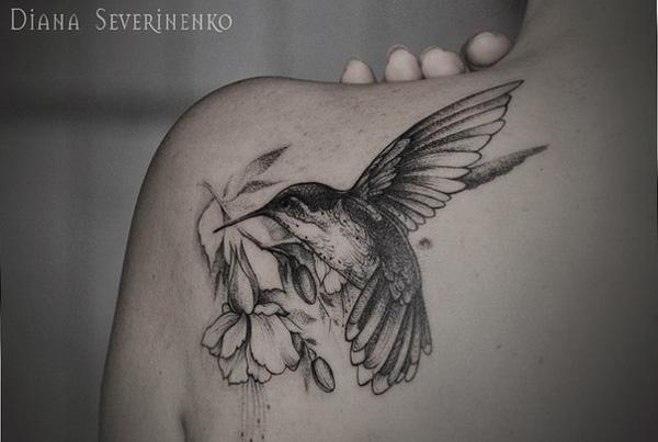557057e8944ee hummingbird watercolor tattoo - 55 Amazing Hummingbird Tattoo Designs <3 <3  ...