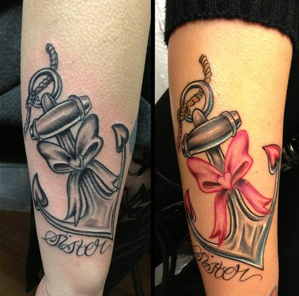 Anchors Sister Tattoos - 50+ Sister Tattoos Ideas  <3 !