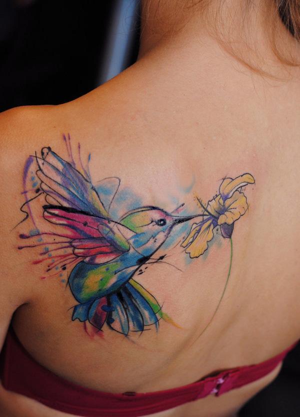 a0b32a3d120 55 Amazing Hummingbird Tattoo Designs | Art and Design