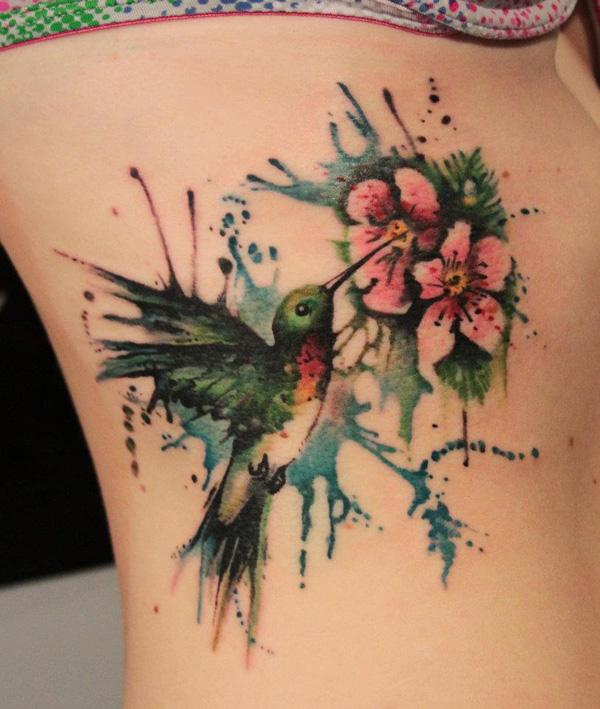 5c8e7156d 55 Amazing Hummingbird Tattoo Designs | Art and Design