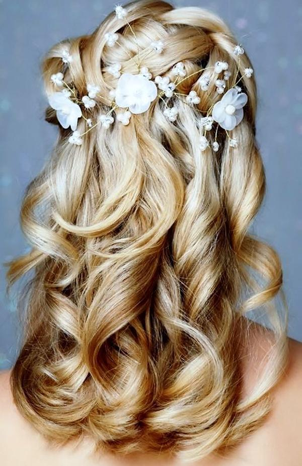 Stupendous Waterfall Braid With Curls And Flowers Braids Short Hairstyles For Black Women Fulllsitofus