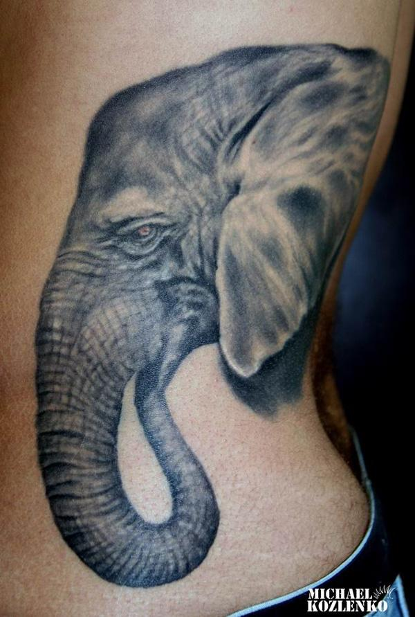 Elephant side tattoo - 55 Elephant Tattoo Ideas  <3 !