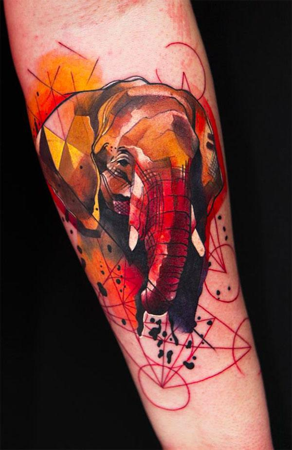 Watercolor elephant tattoo - 55 Elephant Tattoo Ideas  <3 !
