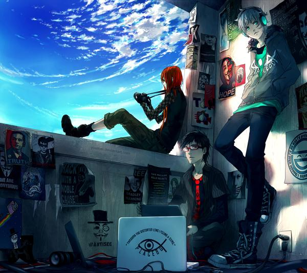 Fisheye Placebo: Cypherpunks - 50 Examples of Anime Digital Art <3 !