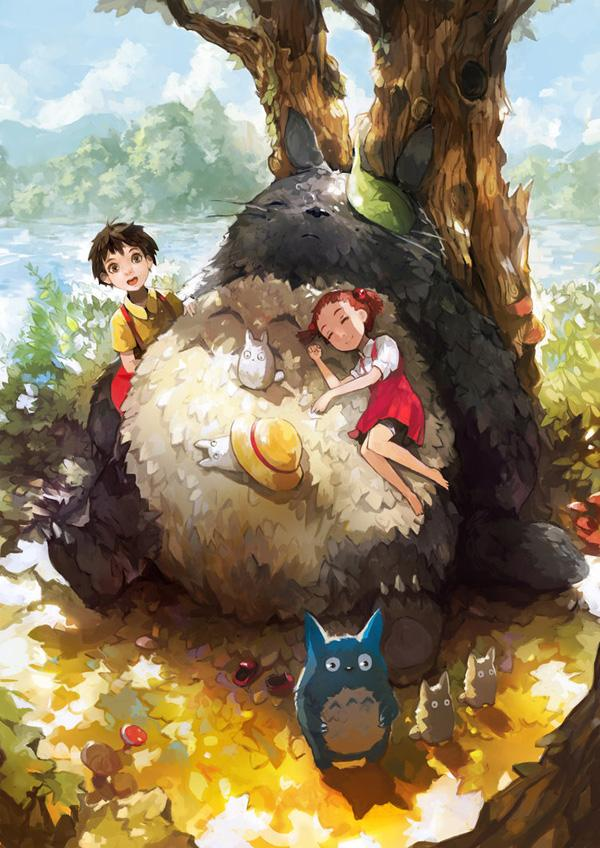 Tonari no Totoro - 50 Examples of Anime Digital Art <3 !