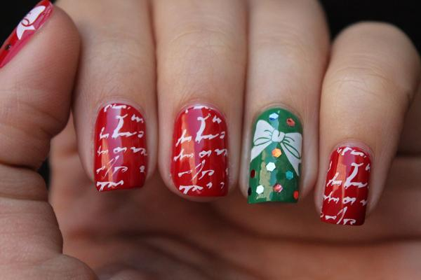 65 Cute Christmas Nails   Art and Design