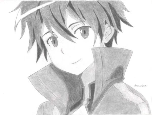 Kirito 55 beautiful anime drawings
