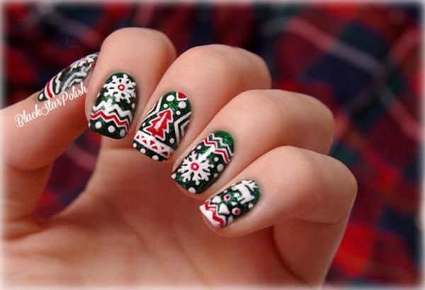 Cute Christmas Nails.65 Cute Christmas Nails Art And Design