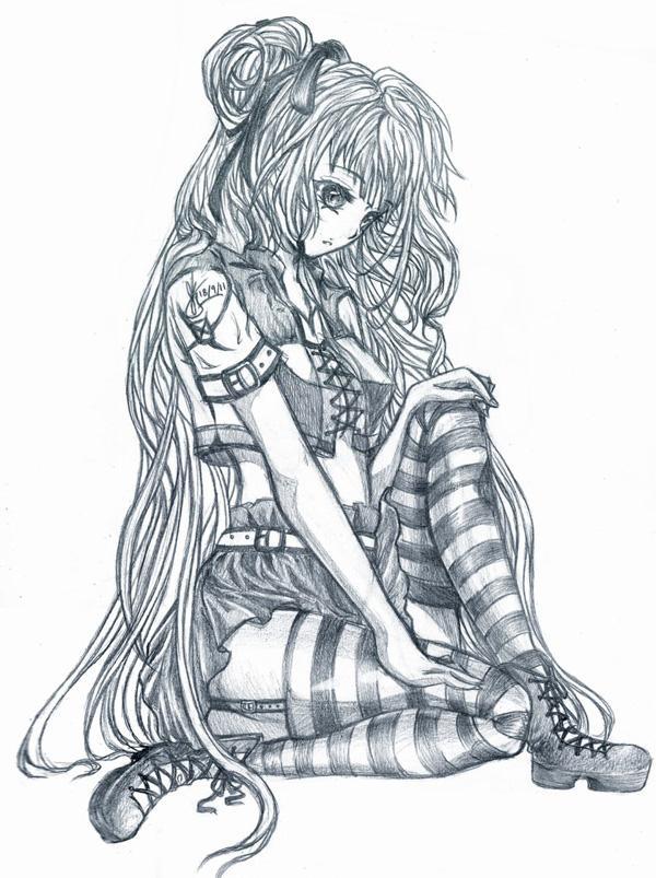 wallpapers girl drawings