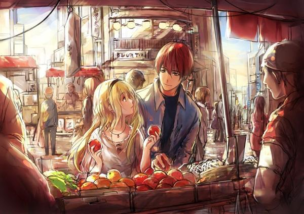 morning market - 50 Examples of Anime Digital Art <3 !