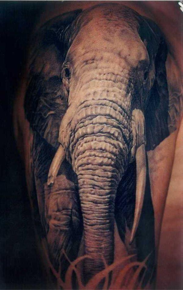 3D elephant tattoo - 55 Elephant Tattoo Ideas  <3 !