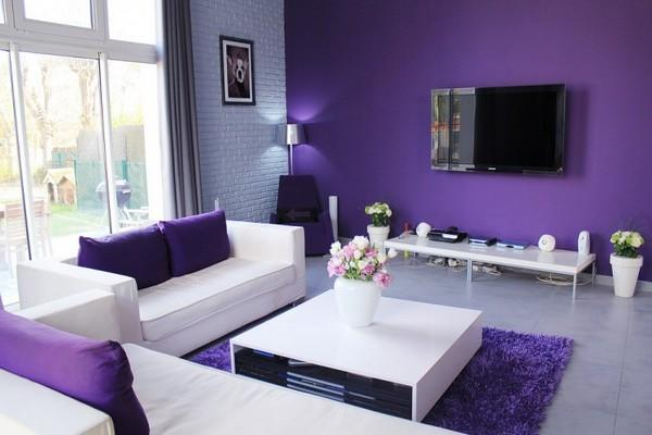 Living Room Paint Ideas Purple 50 living room paint ideas | art and design
