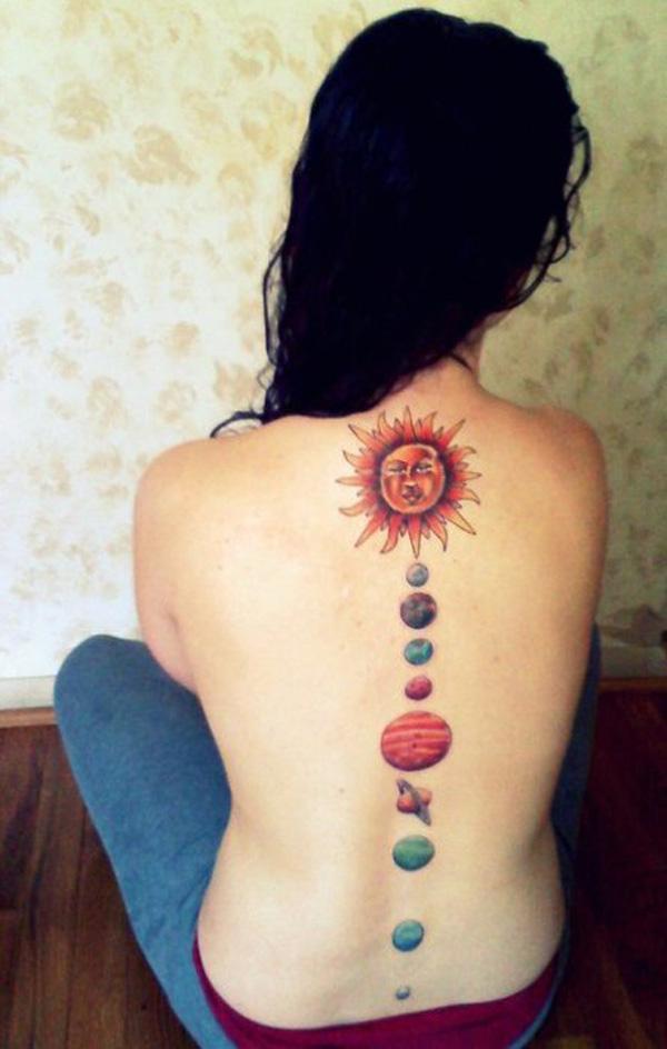 c91f28f1450 solar system tattoo - 30 Examples of Solar System Tattoo <3 <3 ...