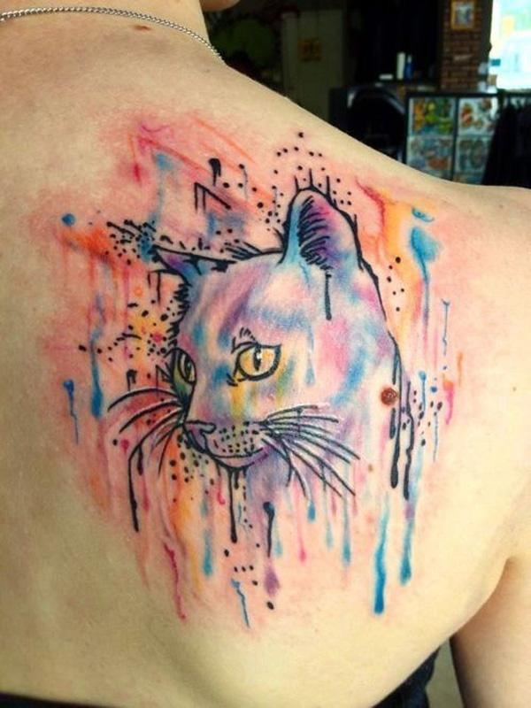 Gallery For gt Abstract Cat Tattoo