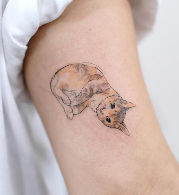 ff00dd87e 100+ Examples of Cute Cat Tattoo | Art and Design