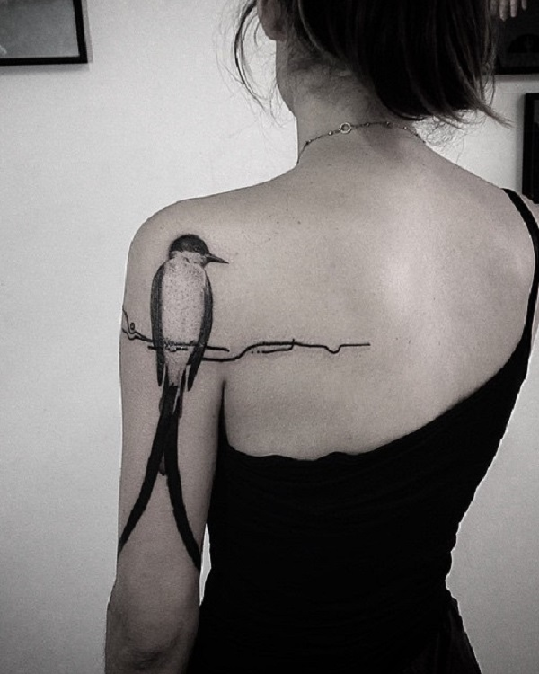 871f65a4c47c7 100+ Lovely Swallow Tattoos | Art and Design