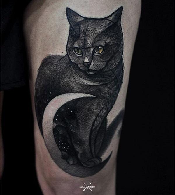 e7ab85f9c0582 Small cat wrist tattoo. Thigh cute cat tattoo - 100+ Examples of Cute Cat  Tattoo <3 ...