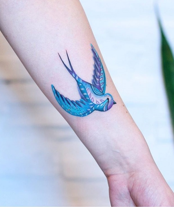 352a3207b 100+ Lovely Swallow Tattoos | Art and Design