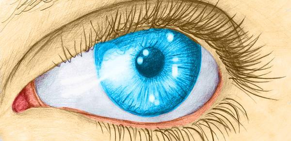 Blue Eye Pencil Drawing a Blue Eye Pencil Traces