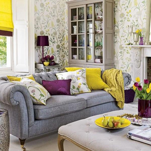 Yellow And Green Purple Black An Excellent LIVING Room