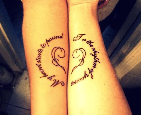 1811371c7 matching tattoos - 70+ Lovely Matching Tattoos <3 <3 ...