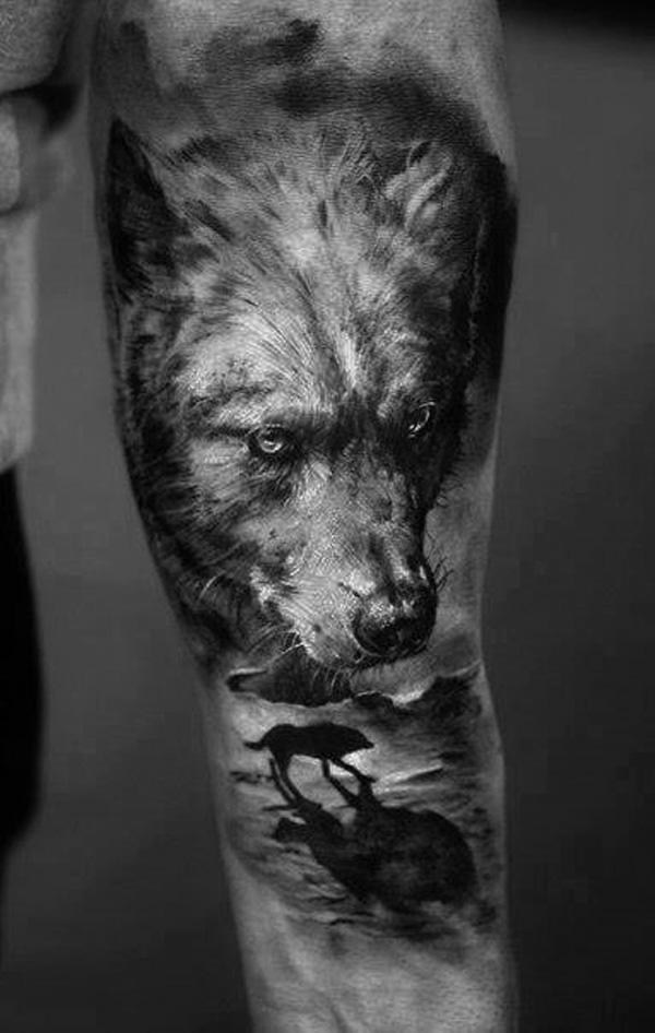 Wolf tattoos forearm x ray