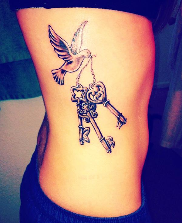 50 Rib Tattoos for Girls | Art and Design