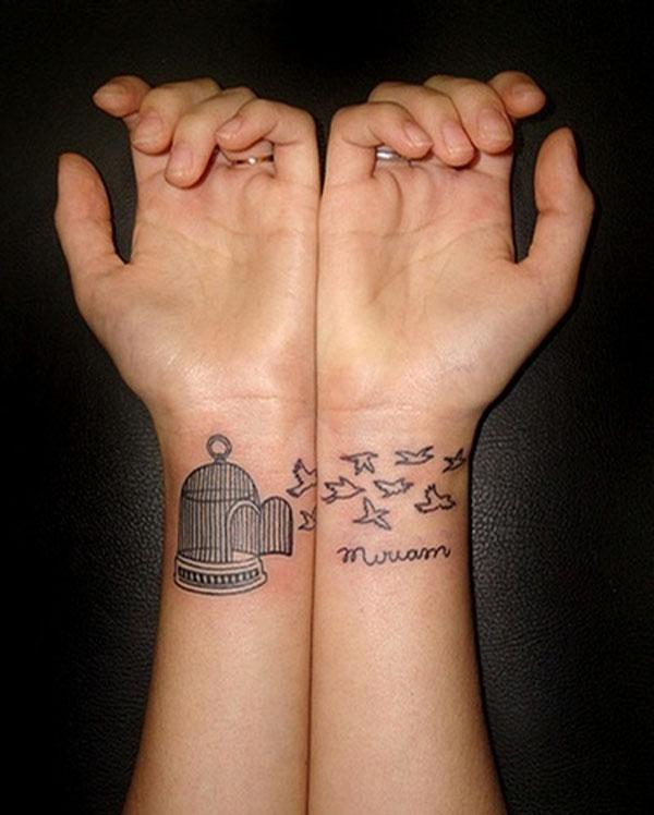 8413fd6ed0d39 matching tattoos - 70+ Lovely Matching Tattoos <3 <3 ...