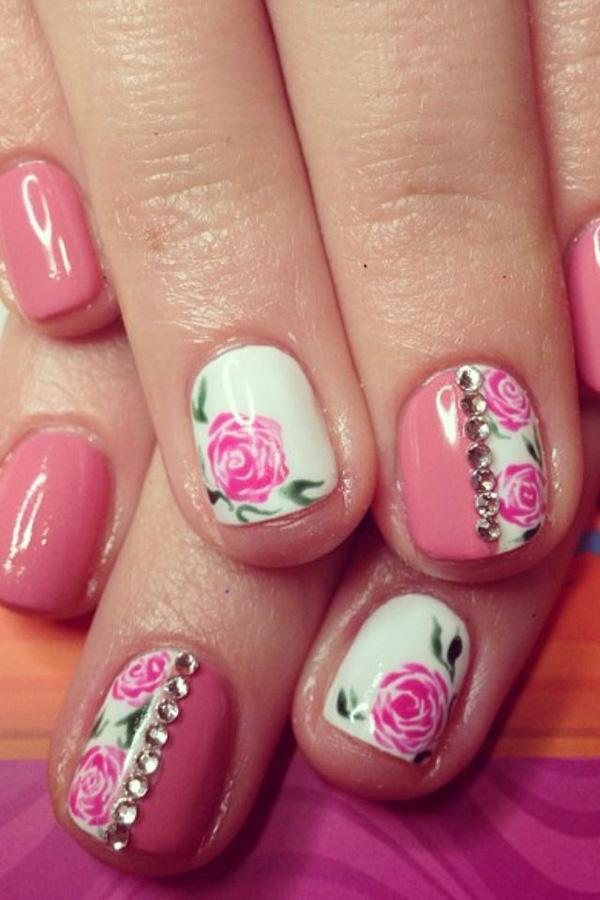 50 Flower Nail Art Designs And Design