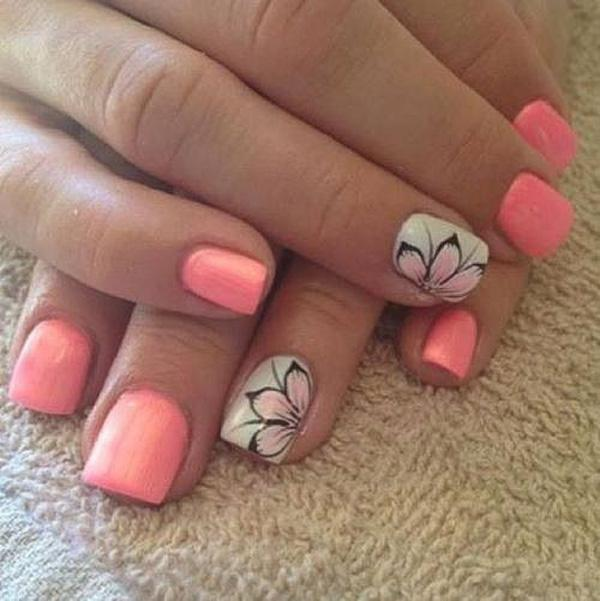Nail design flowers : Flower nail art designs and design