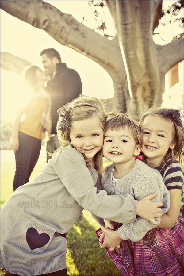 Kids In Foreground Focus